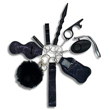 Self defense keychain for women, With Safe Sound Personal Alarm, Self-Defence Key Chain Anti-Wolf Defense Keychain