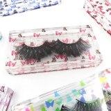 New 10/20pcs wholesale butterfly print Acrylic 25mm eyelashes packaging box lash packaging custom logo empty case bulk vendors