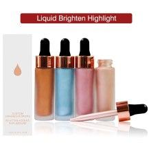 Custom Label Makeup Face Eyes Liquid Brighten Highlight Long Lasting Foundation Concealer high Coverage Highlighter Wholesale