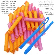 (20/30/50/65/75cm) Hair Rollers Snail Shape Not Waveform Spiral Round Curls Hair Curler Soft Hair Curler Magic Hair Rollers DIY