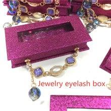 wholesale Jewellery eyelash box wholesale glittering box mink eyelashes case makeup 3d mink false lashes box faux cils packaging