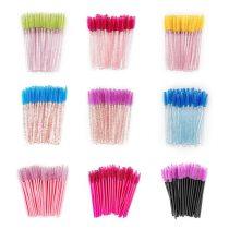 50Pcs Make UpHandle Eyelashes Brush Disposable Eyelash Brushes Makeup Set Brushes For Eye Lashes Eye Lash Brush Tool