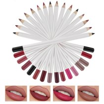 Makeup 16 Colors Lip liner High pigmented smooth waterproof Eyeliner Eyebrow-liner 3 in 1 Matte Pencil Custom Label