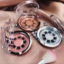 2021 Wholesale customization Pre-cut Segment Lashes 25mm Mink Eyelashes With Custom Packaging Your Own Logo Eyelash Box