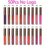 50pcs 30 Colors Waterproof Matte Liquid Lipstick Lip Tint matte Lip Gloss Cosmetic Lipstick Long Lasting lipgloss Custom Logo