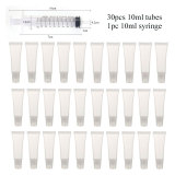 Empty Lip Gloss Tubes with Syringe Clear Soft Lip Gloss Container Refillable Lipgloss Tubes for DIY Cosmetic Makeup
