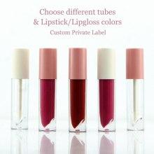 DIY Makeup Matte Liquid Lipstick Nude Lipgloss Choose Colors High Pigmented Long Lasting Waterproof Glossy Custom Private Label