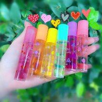 1Pc Transparent Lip Gloss Clear Oil Sexy Cute Fruit Lip Balm Liquid Lipstick Moisturizing Plumper Lip Oil Women Lip Gel