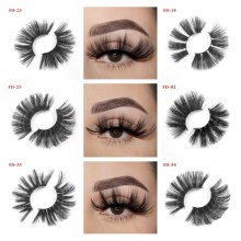 25mm faux eyelashes make up Criss-Cross mink lashes Dramatic Long maquillaje faux cils beauty 3D eyelash extension bulk
