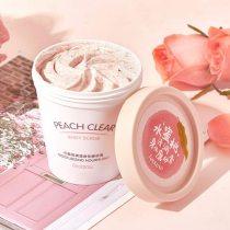 200MLNiacinamide Ice Cream Body Scrub Peach Deep Cleaning Exfoliating Hydrating Scrub Scented Mud Exfoliating Gel Body Lotion