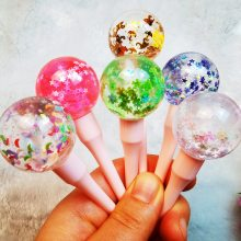 Fruit Scented Lip Gloss Kids Customised Moon Star Stuff Lollipop Plumping Lip Jelly Moisturizer Shiny Vitamin E MineraL Lip Oil