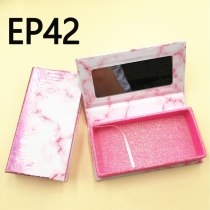 Wholesale Eyelash Packaging Box Lash Boxes Package Custom Magnetic With Mirror 25mm Faux Cils Tray Makeup Storage Case bulk