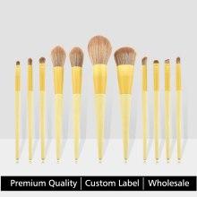 High quality Makeup Brush Set Foundation Powder Blush Eyeshadow Eyebrow Concealer Lip Soft Cosmetics Kit  Custom label logo