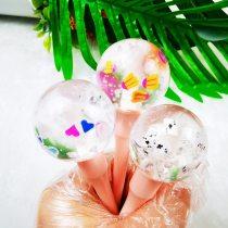 Kids Jelly Lip Gloss Glitter Lip Glaze Lollipop Natural Long-lasting Moisturizing Card Lipgloss Plumping Liquid Lipstick Makeup