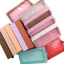 wholesale eyelash packaging box lash boxes packaging custom logo faux cils 25mm mink eyelashes magnetic drawer case bulk vendors