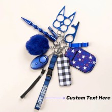Drivworld 2021 Hot Sales Personalized Safety Keychain Women Protection Alarm Window Breaker Whistle Set