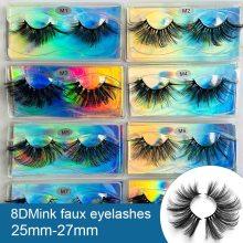 Mink Eyelashes 25mm Lashes Fluffy 3d Mink Lashes Makeup Dramatic Long Natural Eyelashes Wholesale Eyelash Extension