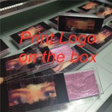 Custom print logo Plastic Acrylic pull Square Case With Tray Wholesale Lashes Private Label Logo Packing Box Empty Case