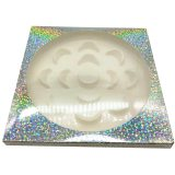 Wholesale 7pairs paper lash box with tray 25 mm mink eyelashes emphy packaging box provide custom print logo