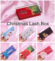 Christmas Lash Boxes Packaging Wholesale Empty Eyelash Package Boxes New Arrival Eyelash Cases Bulk Lash Boxes