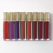 New Gold Custom Matte Liquid Lipstick Sexy Red Nude Velvet Lipgloss Waterproof Long Lasting Pigment Makeup Private Label