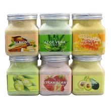 wholesale Body scrub Exfoliating scrub Improve skin Many flavors Customize your logo 350ML