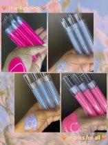 2021 New Style Coconut Oil Lipgloss Base Private Clear Custom Tube Fruit Vegan Glitter Wholesale Natural Lip Gloss Label