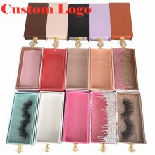 5-100 Pcs Lash Packaging Wholesale Lash Cases Packaging Bulk Square Eyelash Case New Holographic Dollar Marble Eyelashes Package