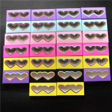 wholesales Custom Eyelash Packaging Paper Box Rectangle Case 25mm lash custom logo packing box makeup