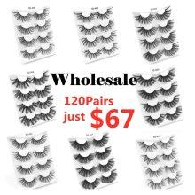 wholesale lashes eye bulk 4/10/50/100 PCS natural long false eyelashes fluffy wispy faux 3d mink lashes soft thick handmade
