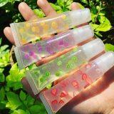 50PCS/LOT Vegan Fruity transparent Lip Gloss cruelty free custom butterfly Lipgloss Private Label