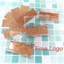 Lashes Box Custom Eyelash Packaging Glitter Background Acrylic Case With Tray Wholesale Mink Lashes Private Label Logo Packing