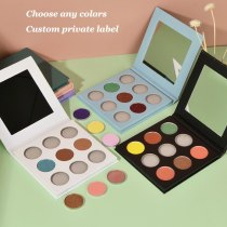 9 Colors High Pigmented Eyeshadow Choose any Colors Matte Shimmer Glitter Makeup Palette Kit Custom Private label