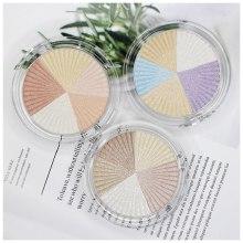 Highlighter Pressed Powder Makeup Pigment 3D  Shimmer Glow Contour Shadow Bronzer Face brighten Palette Custom Private Label