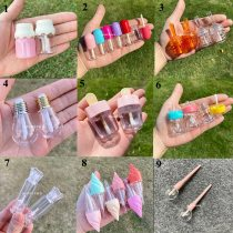 Wholesale Cute Empty Lip Gloss Tube Plastic Bottle Clear Round DIY Lipstick Container Refillable Lip Balm tube Make up Tools