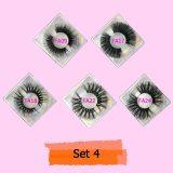 Mink Eyelash 10/20/30 Pairs Fake Lashes Wholesale 5D Mink Lashes Packaging Boxes Magnetic Eyelashes Mink 25mm Lashes In Bulk