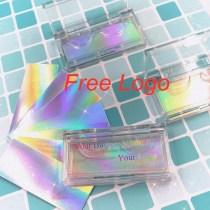 Wholesale Glitter Background print Acrylic false eyelash packaging box 25mm mink fake eyelashes boxes rectangle case lashes