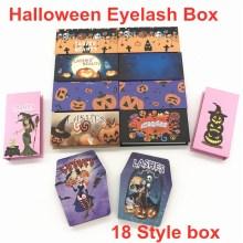 New Wholesale Halloween Lash Box paper false eyelash packaging box mink box Empty Eyelash Halloween Package Box  Custom logo