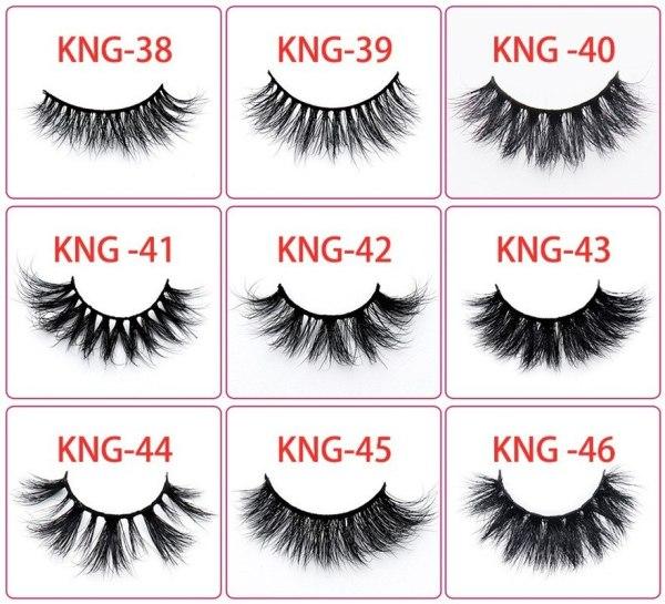 Hot Selling Mink False Eyelashes 3D Eyelashes Natural Nake Makeup Wholesale Makeup Goods Cosmetic Gift for Women