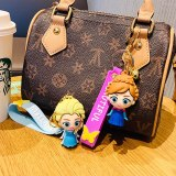 Disney Frozen Princess Keychains Pendant Silicone Car Cartoon Key Chain Creative Aisaisha Gifts Wholesale Keyring
