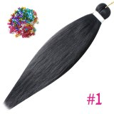 Pre Stretched Braiding Hair Ombre Synthetic Braids Wholesale Easy Professional Braid Hair For Women Yaki Texture Hair Extensions