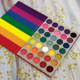 35 Colors Rainbow Eyeshadow Palette Bright Shades Matte Shimmer Glitter Makeup Eye Shadow Pallete Private Label Cosmetics
