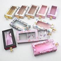 Eyelash Packaging Box 3d Mink Lashes Bulk Empty Box 25mm Mink Eyelashes Cases False Eyelashes Drawer Box Diamond Handle Drawer