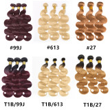 Best quality ombre and 613 Bundles Raw Virgin Cuticle Aligned Hair Human Hair Weave Bundle Wholesale Indian hair extension