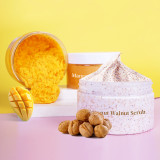 OEM Private Label Natural Exfoliating Deep Cleansing Whitening Face Scrubs Mango Shea Nut Coconuit Walnut Body Scrubs