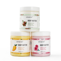 Drop Shipping Customize Private Label Organic Moisturizing Vanilla Coconut Rose Whipped Raw Shea Body Butter