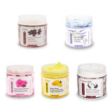 Wholesales Private Label Vegan Pink Body Lotion OEM Body Butter Organic Shea Butter Whipped Butter with a Nice Jars Container