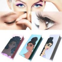 Girls False Lash Case Eyelash Portable Empty Eye Lashes Box Magnet Packaging Box Cosmetics Container Jewelry Storage Organizer