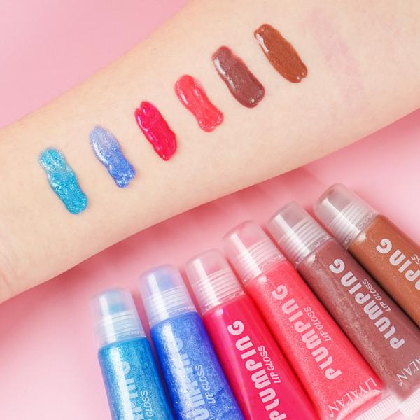 Wholsale Scented Lip Gloss Tubes Lip Tint Custom Liptint Vegan Non Sticky 20 Colors Glitter Squeeze Lipgloss