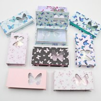 Butterfly Design Lash Boxes Packaging Eyelash Packaging With Tray Lashes Box Mink Lashes Storage Holder Pack Box Case Wholesale